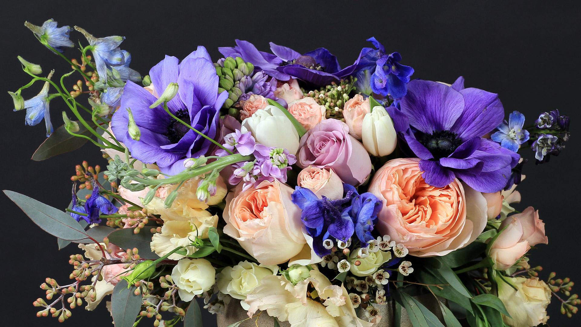 Авторский букет из живых цветов