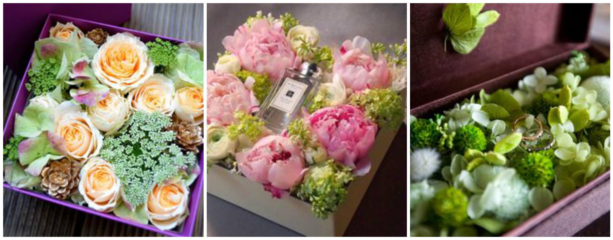 Оформление коробки с цветами